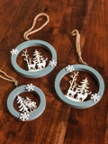 Wintry Forest Hanging Ornament