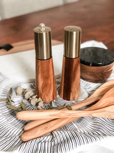 Acacia Salt Dispenser & Pepper Mill