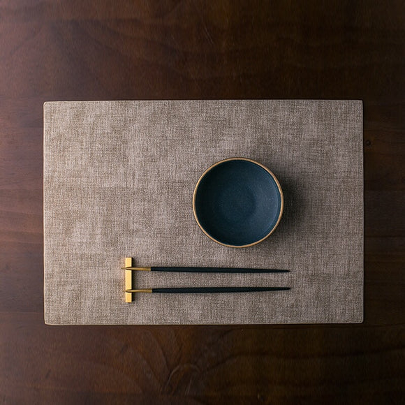 Leather Table Mat in Dark Coffee