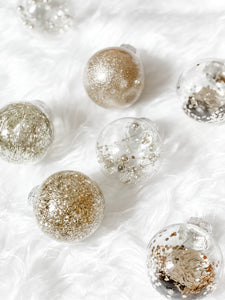 Champagne Gold Moonlit Baubles - Set of 30