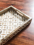 Savannah Bone Inlay Wooden Tray