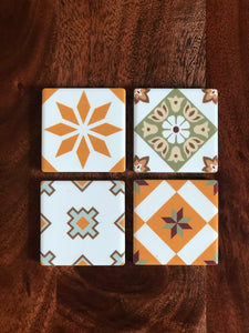 Peranakan Tile Fridge Magnets - Set of 4 (Victoria)