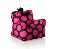 Sweety Toys 11667 Sessel Kindersessel schwarz mit pinken Punkten- indoor/outdoor-waterproof