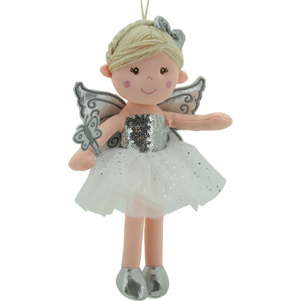 Sweety Toys 11759 Stoffpuppe Fee Plüschtier Prinzessin 30 cm Silber