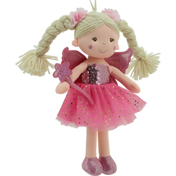 Sweety Toys 11773 Stoffpuppe Fee Plüschtier Prinzessin 30 cm pink