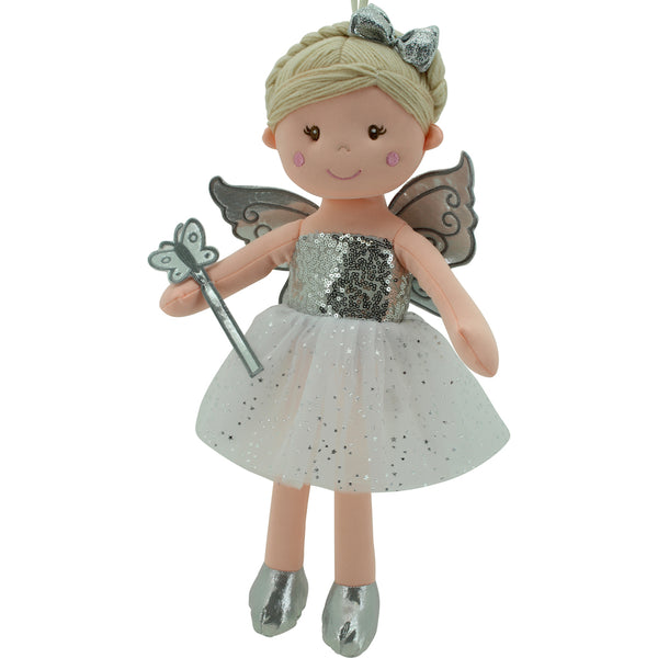 Sweety Toys 11797 Stoffpuppe Fee Plüschtier Prinzessin 45 cm Silber