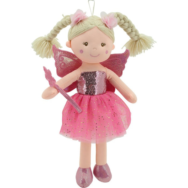 Sweety Toys 11803 Stoffpuppe Fee Plüschtier Prinzessin 45 cm pink