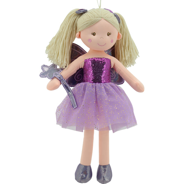 Sweety Toys 11834 Stoffpuppe Fee Plüschtier Prinzessin 60 cm pink