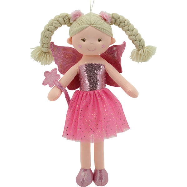Sweety Toys 11841 Stoffpuppe Fee Plüschtier Prinzessin 60 cm lila