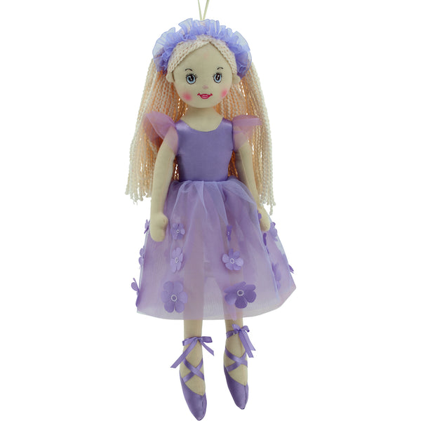 Sweety Toys 11872 Stoffpuppe Ballerina Plüschtier Prinzessin 50 cm lila