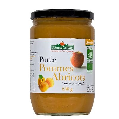 PUREE POMMES ABRICOTS 630G