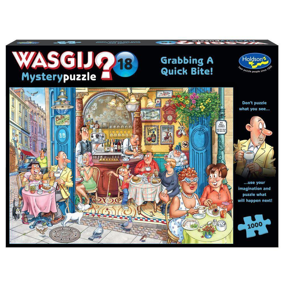 Wasgij Mystery no: 18 Grabbing A Quick Bite 1000pc Jigsaw Puzzle - Mega Games Penrith
