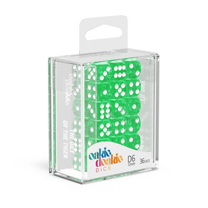Oakie Doakie Dice D6 12 mm Speckled - Green (36) - Mega Games Penrith