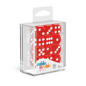 Oakie Doakie Dice D6 16 mm Speckled - Red (12) - Mega Games Penrith