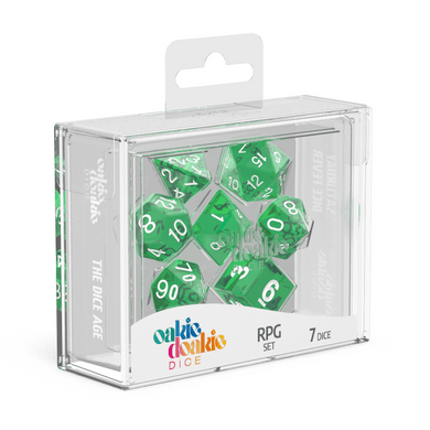 Oakie Doakie Dice RPG Set Translucent - Green (7) - Mega Games Penrith