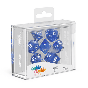 Oakie Doakie Dice RPG Set Speckled - Blue (7) - Mega Games Penrith