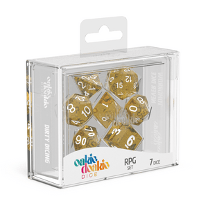 Oakie Doakie Dice RPG Set Speckled - Orange (7) - Mega Games Penrith