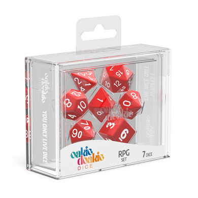 Oakie Doakie Dice RPG Set Solid - Red (7) - Mega Games Penrith