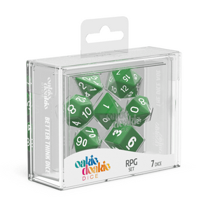Oakie Doakie Dice RPG Set Solid - Green (7) - Mega Games Penrith
