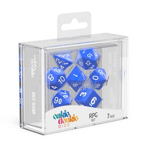 Oakie Doakie Dice RPG Set Solid - Blue (7) - Mega Games Penrith