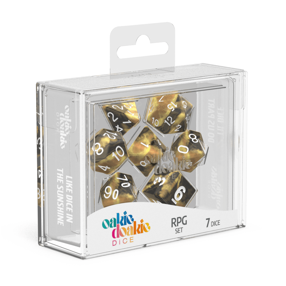 Oakie Doakie Dice RPG Set GemiDice - Hornet (7) - Mega Games Penrith