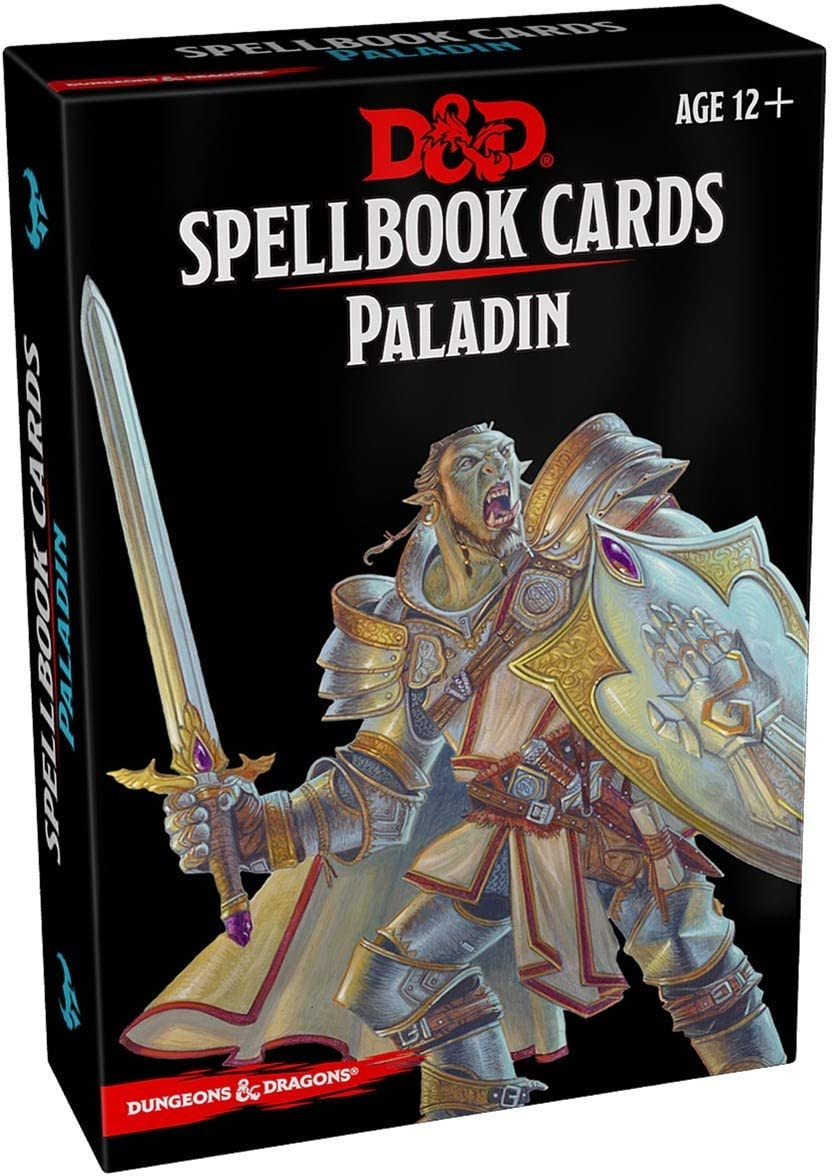 D&D Spellbook Cards Paladin Deck (69 Cards) Revised 2017 Edition - Mega Games Penrith