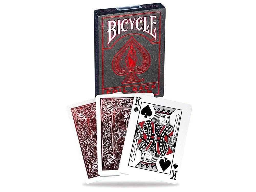 Bicycle Foil Back Metalluxe Crimson Playing Cards