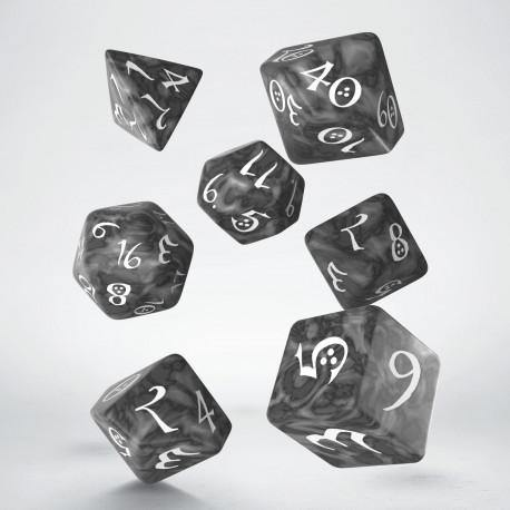 Classic RPG Dice Set Smoky & White - Mega Games Penrith
