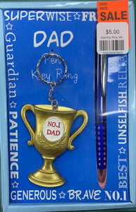 No 1. Dad! Key Ring & Pen Set - Mega Games Penrith