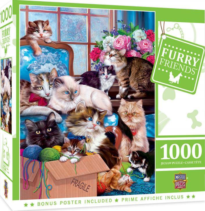 Masterpieces Furry Friends Trouble Makers Jigsaw Puzzle 1000pc