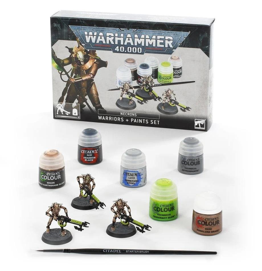 Warhammer 40,000 Necrons Warriors & Paint Set - Mega Games Penrith