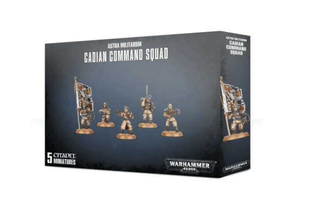 Warhammer: Astra Militarum Cadian Command Squad - Mega Games Penrith