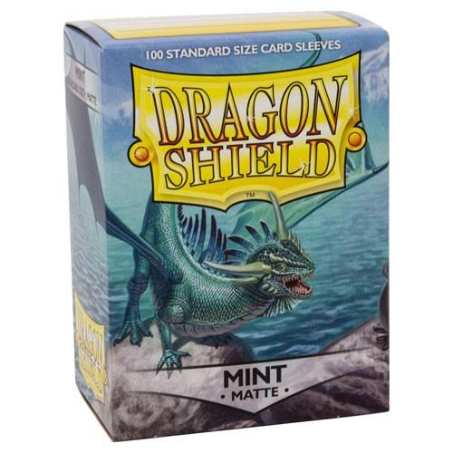Sleeves - Dragon Shield - Box 100 - Mint MATTE - Mega Games Penrith