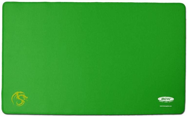 BCW Playmat with Stitched Edging Green - Mega Games Penrith