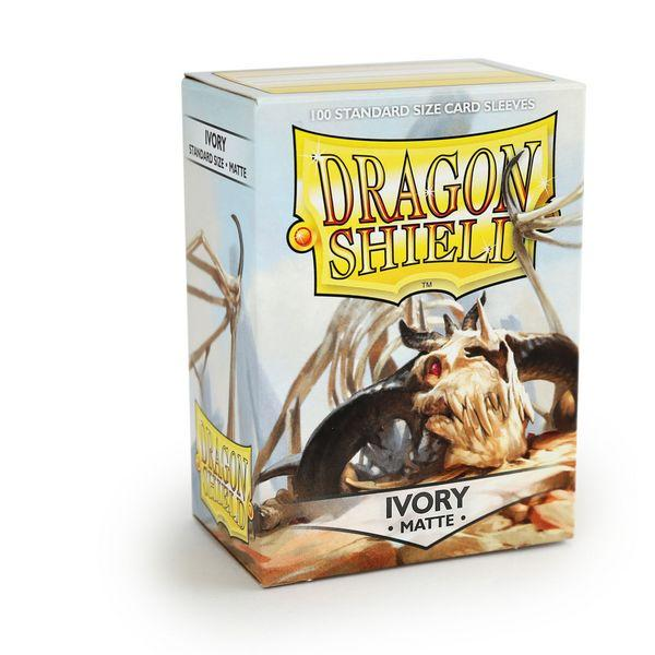Sleeves - Dragon Shield - Box 100 - Ivory MATTE - Mega Games Penrith