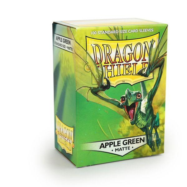Sleeves - Dragon Shield - Box 100 - Apple Green MATTE - Mega Games Penrith