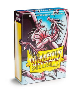 Sleeves - Dragon Shield Japanese- Box 60 - Pink MATTE