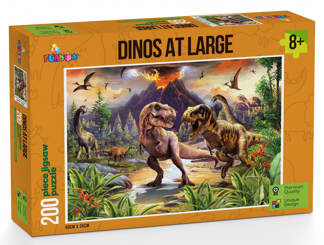 Funbox Dinos At Large 200pc - Mega Games Penrith