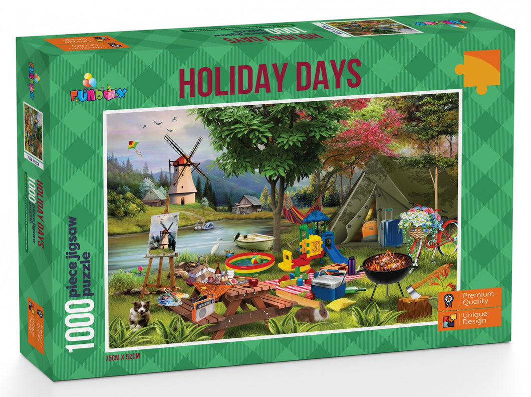 Funbox Holiday Days Camping 1000pc - Mega Games Penrith