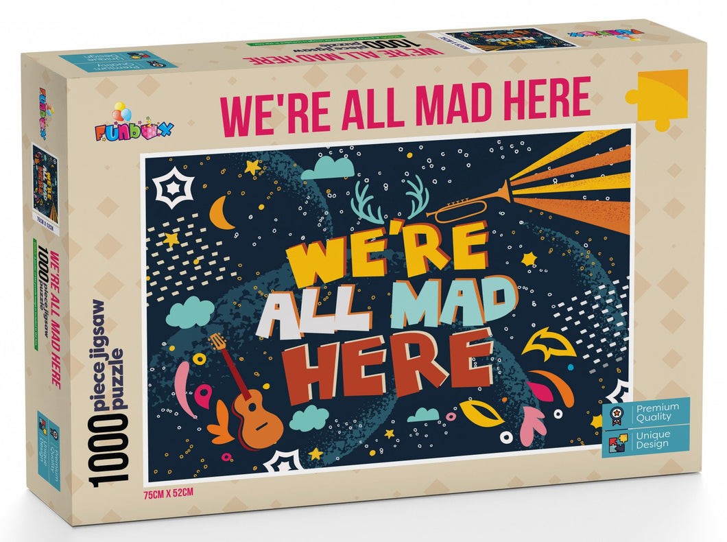 Funbox We're All Mad Here 1000pc - Mega Games Penrith