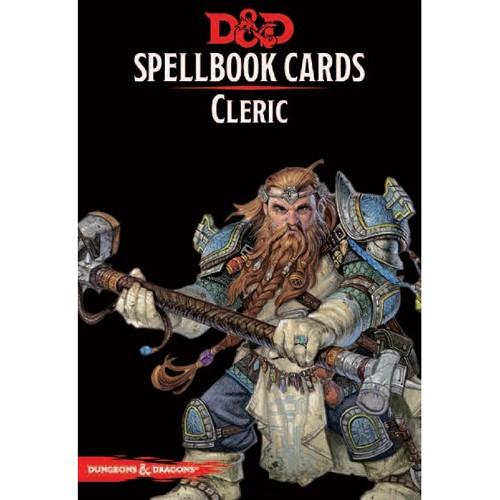 D&D Spellbook Cards Cleric Deck (149 Cards) Revised 2017 Edition - Mega Games Penrith