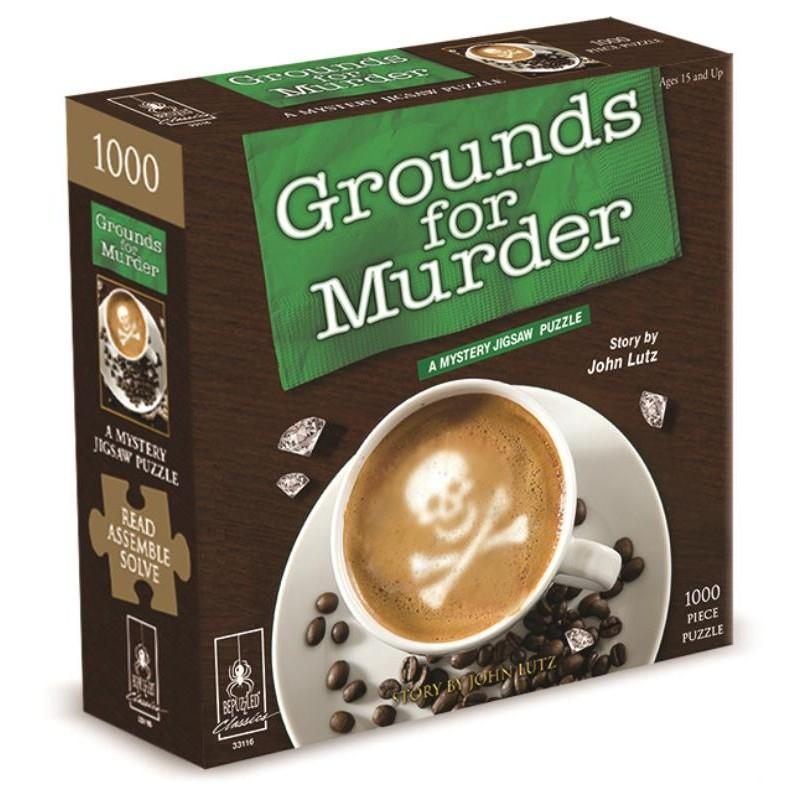 Grounds For Murder A Mystery Jigsaw Puzzle 1000pc - Mega Games Penrith