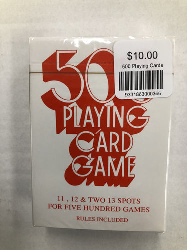 500 Playing Cards - Mega Games Penrith