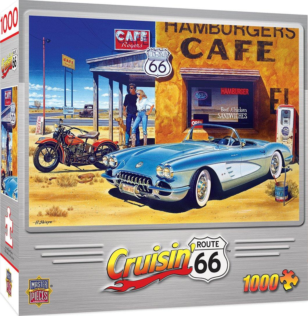 Masterpieces Cruisin' Route 66 Cafe 1000pc Jigsaw Puzzle - Mega Games Penrith