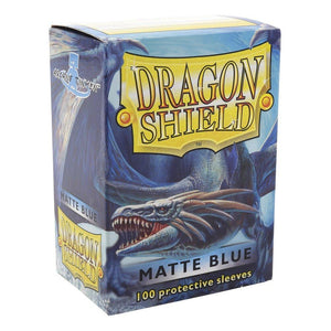 Sleeves - Dragon Shield - Box 100 - Blue MATTE - Mega Games Penrith