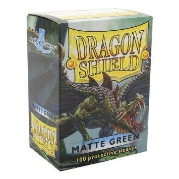 Sleeves - Dragon Shield - Box 100 - Green MATTE - Mega Games Penrith