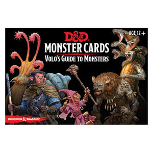 D & D Monster Cards Volo's Guide