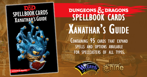 D&D Spellbook Cards Xanathars Deck (95 Cards) 2018 Edition - Mega Games Penrith