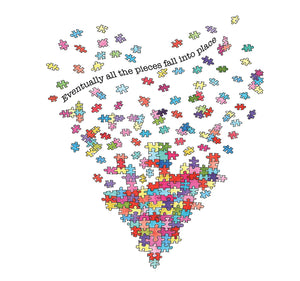Jigsaw Pieces #Heart121 - Greeting Card
