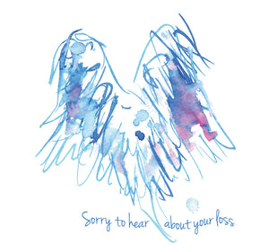 """Sorry to hear about your loss"" #Heart751 - Condolence Card"